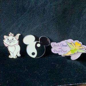 Disney Pins - Set of 3